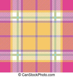 yellow pink indian madras fabric texture seamless pattern. ...