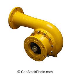 Yellow pipe-adapter