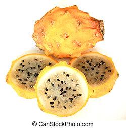 Yellow Pitahaya Slices - Yellow Pitahaya, an exotic fruit...
