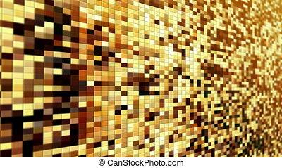 Yellow pixels moving