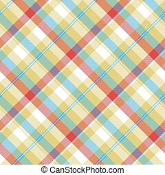 Yellow plaid tartan seamless pattern