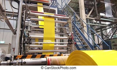 Yellow plastic bags manufacturing process - Plastic...