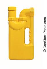 Yellow plastic bottle of drain cleaner