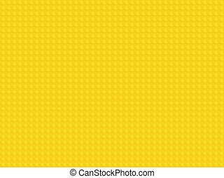 Yellow plastic constructor blocks plate seamless pattern flat design