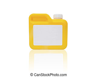 Yellow plastic gallon