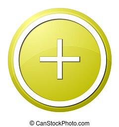 yellow plus button