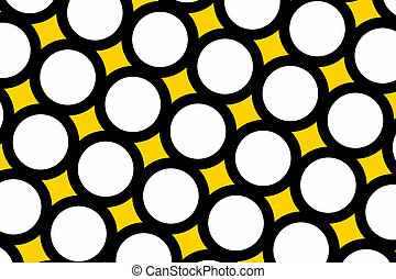 Yellow polka dots background