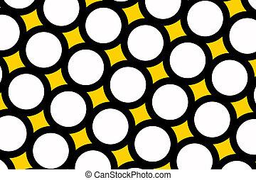 Yellow polka dots background