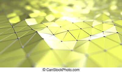 Yellow polygonal loopable motion background