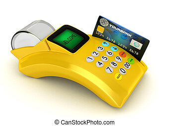 POS-terminal with credit card