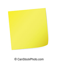 yellow post-it