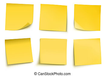 Yellow post it notes - illustration of yellow post it notes...