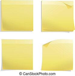 Yellow Post it. Vector design