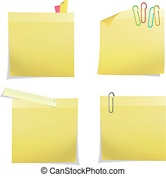 Yellow post it. Vector design
