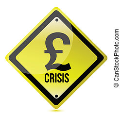 yellow pound crisis sign