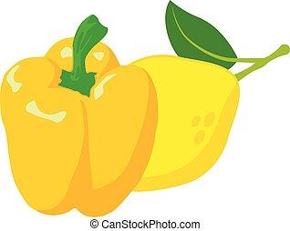 Yellow product icon, isometric style