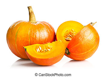 yellow pumpkin vegetable with cut
