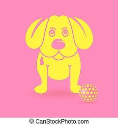 yellow puppy-dog