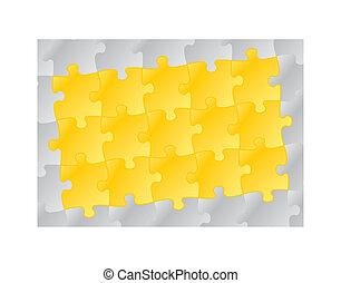 yellow puzzle pattern