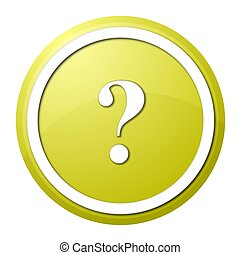 yellow question mark round button