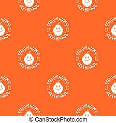 Yellow quince pattern vector orange for any web design best