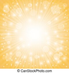 Yellow Ray Background with Stars and Wave.