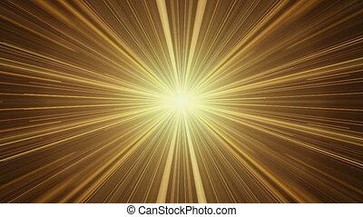 Yellow Rays of Light, Twinkling Light Streaks
