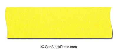 Yellow rectangular sticky note