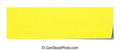 Yellow rectangular sticky note