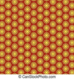 yellow-red abstract background, pattern with flower, Flower...
