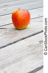 Yellow red apple