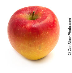 Yellow-red apple