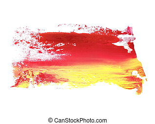 yellow red brush strokes oil paint