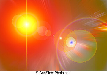 Yellow red flare - background