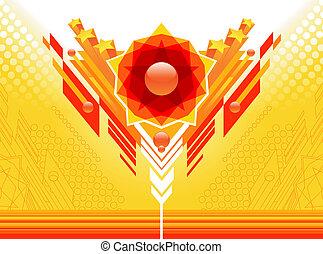 yellow-red, sammandrag formge