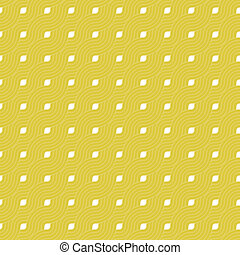 Yellow repeat swirl background with abstract geometric seamless textured pattern