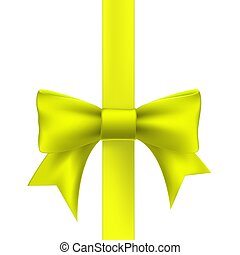 yellow ribbon with a bow