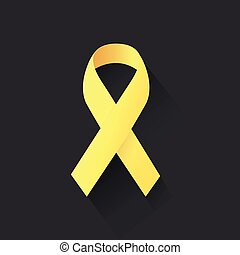 yellow ribbon with dark background