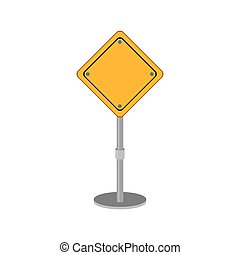 yellow road sign design of safety