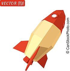 Yellow rocket isolated