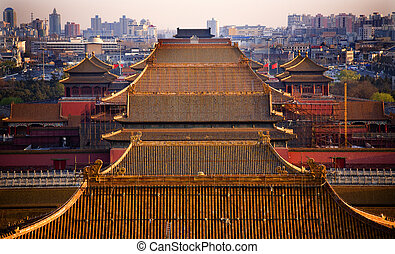 Yellow Roofs Beijing - Yellow Roofs Forbidden City Beijing...