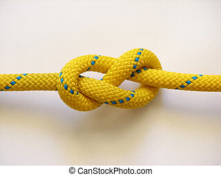 Yellow rope knot