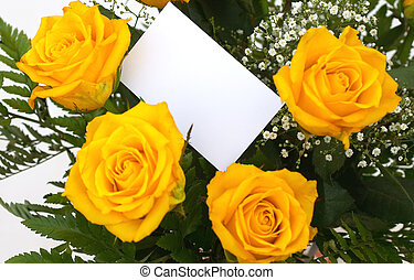 Yellow roses 5 - yellow roses with a gift tag