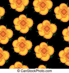 Yellow roses seamless pattern background.