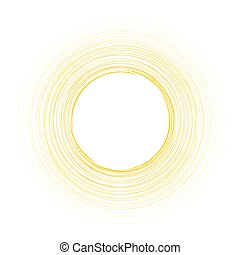 Yellow round background.