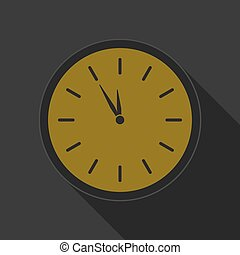 yellow round button - black last minute clock icon