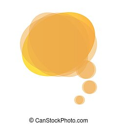 yellow round chat bubble icon