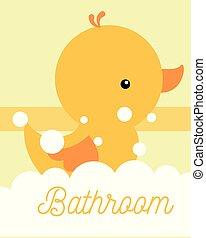 yellow rubber duck toy foam bathroom