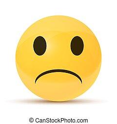 yellow sad face