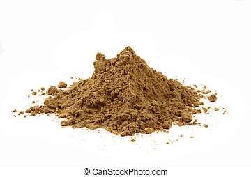 sand isolated on the white background